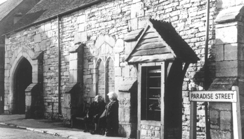 Old photograph taken outside Poole's Town Cellars