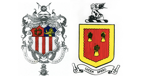 Arms designed for the Garland and Kemp families...