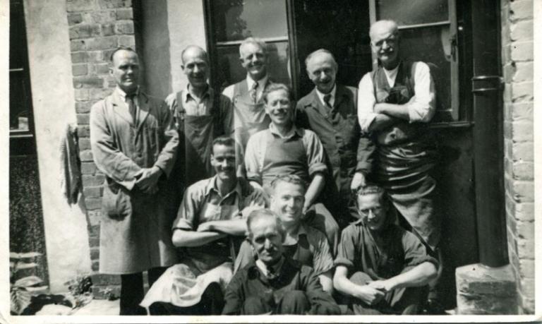 Hawkes shoe repair staff in 1948