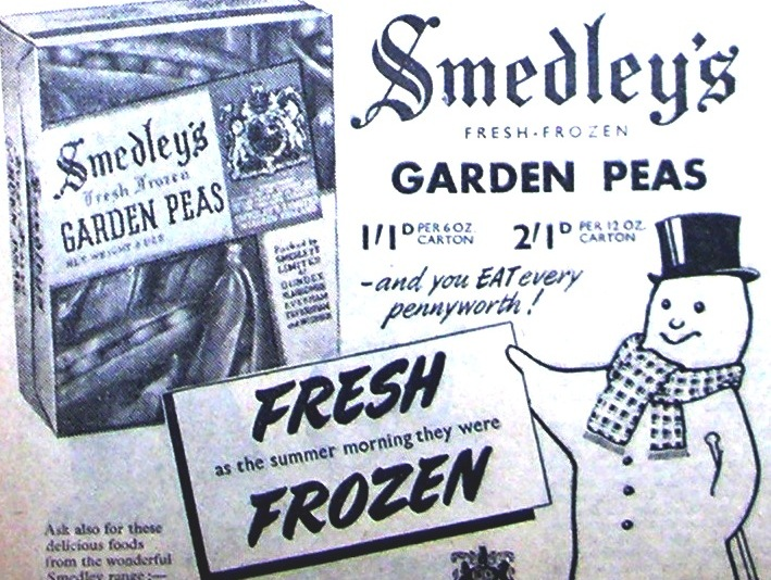 Frozen peas for local housewives