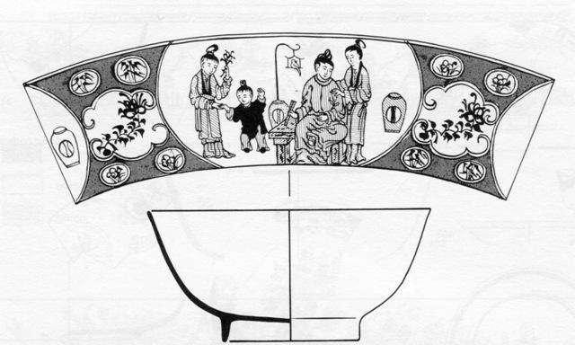 Illustration of a mid-18th century tea bowl
